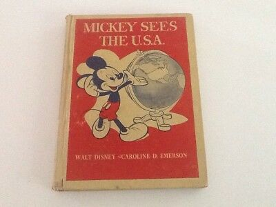 Mickey Sees The USA - Walt Disney Book 1944 (Mickey Mouse)