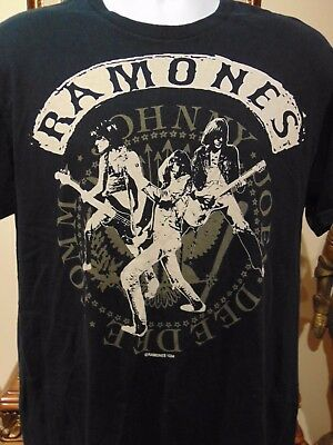The Ramones Branded  Men's  T-shirt, Size Large