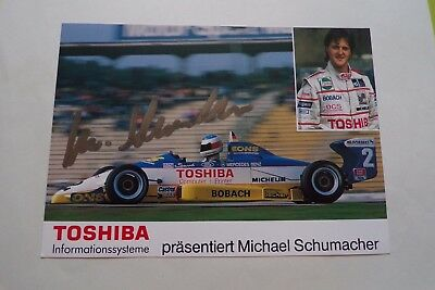 Hand Signed Michael Schumacher 1988 Driver Card - Rare