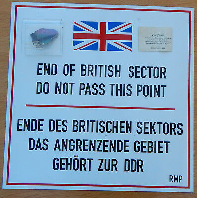 Checkpoint CHARLIE Berlin Wall WARNING SIGN & PIECE Of THE WALL Cold War HISTORY