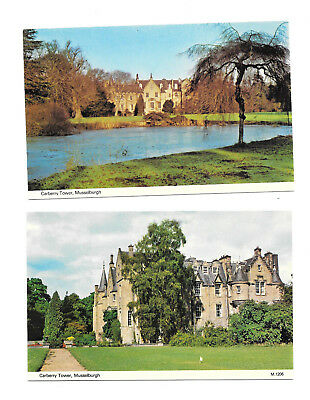 MUSSLEBURGH x 2 - CARBERRY TOWER - OLD POSTCARDS  EAST LOTHIAN SCOTLAND  2 CARDS
