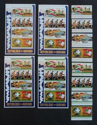 Set of 16 stamps & 4 stamp sheets Burundi 1974 Centenary of UPU perf & imperf