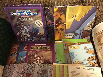 AD&D 2nd Ed. CASTLES Boxed Set -- Unpunched -- GREYHAWK, REALMS, & DRAGONLANCE!!