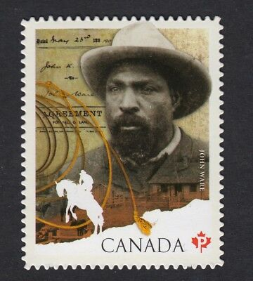ma. JOHN WARE, BLACK HISTORY MONTH Die Cut booklet stamp MNH Canada 2012 #2520