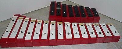 Vintage 23 Portable Xylophone Bells With Cord Markings For Easy Learning Japan