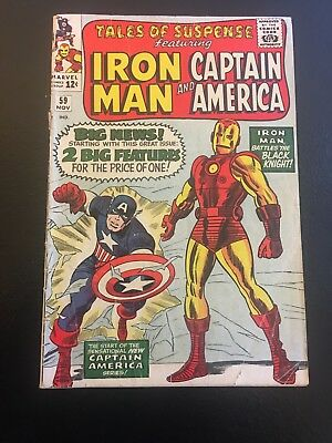 Tales Of Suspense #59 - 1st Solo CAPTAIN AMERICA Since 1950s JARVIS Marvel 1964