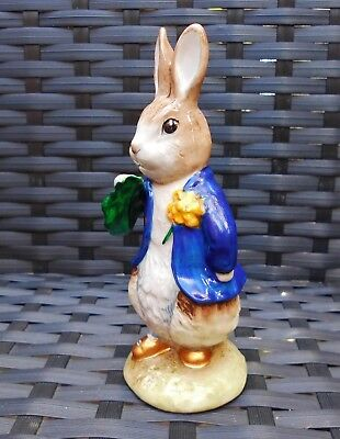 "Beswick Royal Albert Beatrix Potter ""BENJAMIN ATE A LETTUCE LEAF"" UNUSUAL"