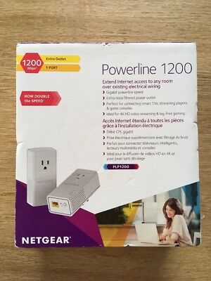 BRAND NEW | Netgear Powerline 1200 and Extra Outlet (PLP1200-100PAS)