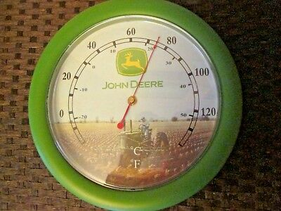 "John Deere Thermometer - Round Outdoor 12"" Model G Tractor"
