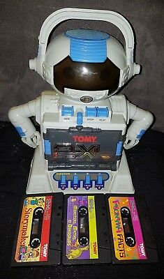 TOMY 2-XL Talking Educational Robot. 80s Retro Toy. Collectors Rare Vintage Toy.