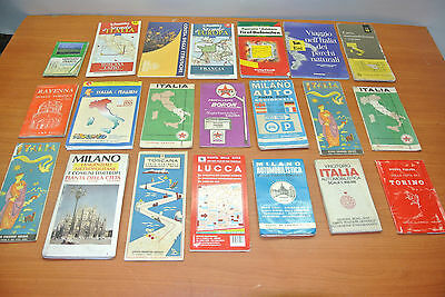 stock carte geografiche stradali, lotto vecchie cartine