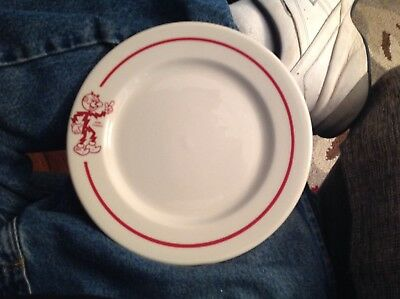 "Mid-Century Reddy Kilowatt Syracuse China Advertising 9"" Dinner Plate"