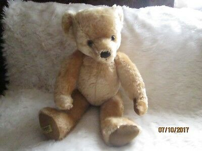 "VINTAGE MERRYTHOUGHT BEAR 18""/46 cm TALL.HANDMADE IN ENGLAND GOOD CONDITION"
