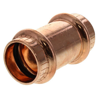 ProPress Zero Lead Copper Coupling without stop  1/2 -1/2-Inch P x P, 78047