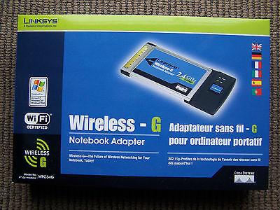 Linksys-Cisco Wireless-G Notebook Adapter WPC54G 2.4GHz, Wi Fi Certified