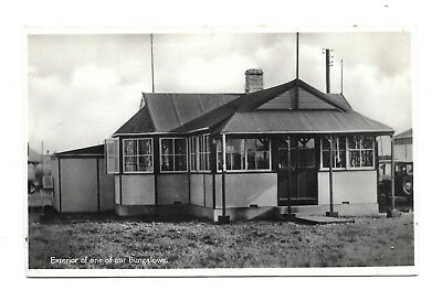 Seaside Bungalow - Could This Be Hemsby - Old 1934 Real Photo Postcard ? Norfolk