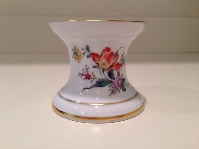 Hochst Floral Candlestick Holder Hand-Painted Porcelain Made In Germany New