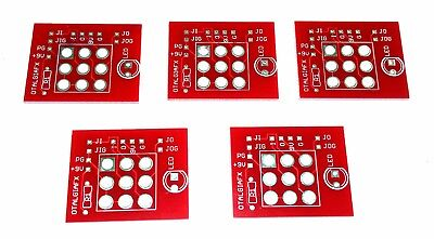 5 x 3PDT Daughterboards  for DIY Guitar Effect Pedal building - PCB ONLY -