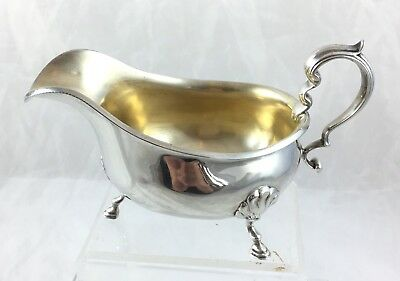Sterling Silver Heavy Gravy / Sauce Boat *** Wilson & Sharp Edinburgh ***