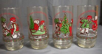 Vintage 1977 Coca-Cola Limited Edition Holly Hobbie Glasses (Set 4 Of 4)