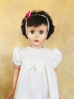 "Vtg 36"" Patti Playpal Type Doll By Allied Eastern AE Brunette/green Eyes"