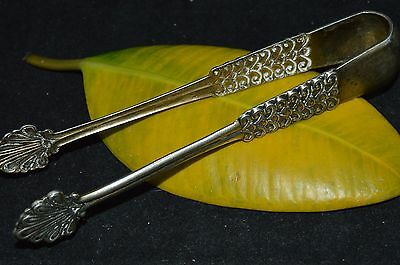 Vintage 1960s! Russian Soviet Sterling SILVER 875 SUGAR TONGS Tea 35.5gr Antique