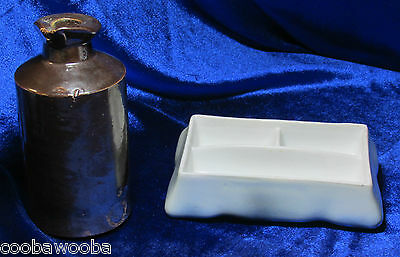 "1850-70 Royal Doulton Lambeth 4 1/2"" INK CROCK & RS Prussia Ink / Stamp"