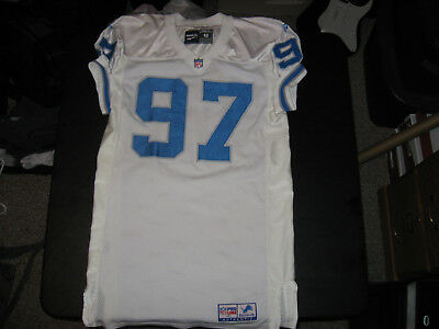 Detroit Lions Game Worn / Used Road Jersey Tracy Scroggins #97 Sz 48 Long.