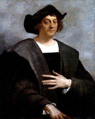 1519 Explorer CHRISTOPHER COLUMBUS Glossy 8x10 Photo Painting Print Poster