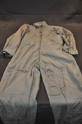 Coveralls Flyer's Summer Fire Resistant 40R Flight Suit CWU-27/P Sage Green A56