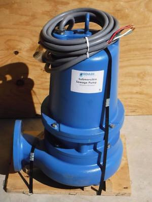 """New Goulds Water 3 HP Manual 3"""" Submersible Sewage Pump 460 Volt FAST SHIPPING"""
