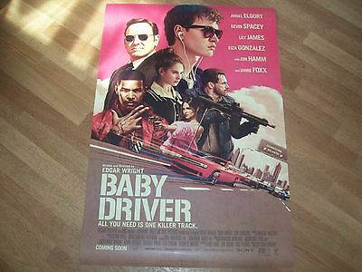 Baby Driver movie poster original d/s one sheet Edgar Wright main