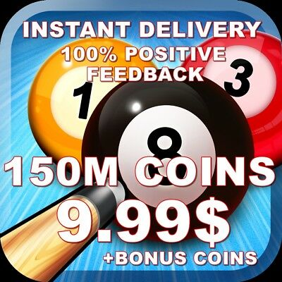 8 Ball Pool Coins -150 MILLION=9.99$ | INSTANT DELIVERY|TRANSFER TO YOUR ACCOUNT