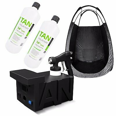 Tanning Essentials Spray Tan Starter Kit - Machine, Tent, 2x Litres Pro Solution