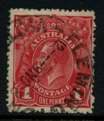 KGV Head Single Wmk 1d Red Die 1 Used **WITH ACSC VARIETY** SG 21c #11069