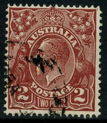 KGV Head SM Wmk Perf 13½ 2d Brown GU SG 98 #16985
