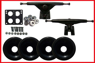 LONGBOARD SKATEBOARD 180mm BLACKOUT PACKAGE 70mm WHEELS