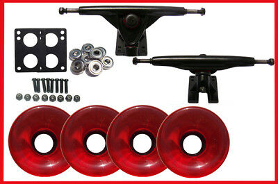 LONGBOARD SKATEBOARD 180 TRUCKS & 70mm WHEELS Package