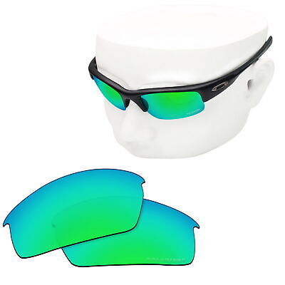 0819d858d5f64 OOWLIT Replacement Sunglass Lenses for-Oakley Bottlecap POLARIZED - Green  Mirror