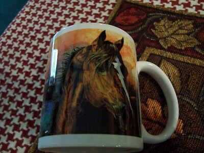 Beautiful Leanin Tree Horse Portrait And Verse Coffee Mug New !