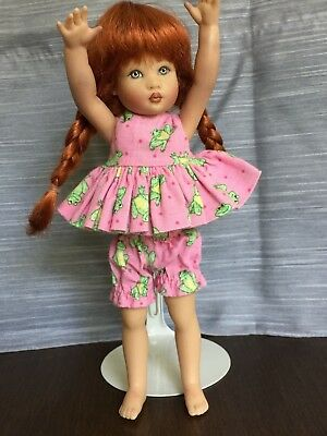 "Cute Handmade 2 Pc Playsuit for Kish Riley & Friends & other 7""- 8"" Dolls"