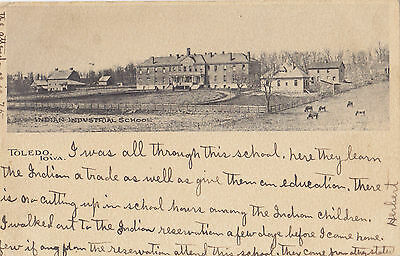 Indian Industrial School TOLEDO Iowa U.S.A. 1901-07 Albertype Co. Postcard