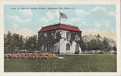 Chilocco Indian School ARKANSAS CITY Kansas U.S.A. 1915-30 E.C Kropp Postcard 2