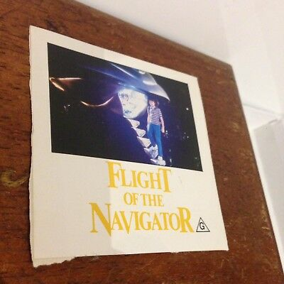 80s Flight Of The Navigator Vintage Antique Sticker ORIGINAL RELEASE 1980s