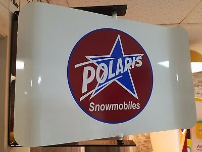 Polaris Vintage/retro 2 Sided Spinning Wall Mount Advertising Sign With Bracket