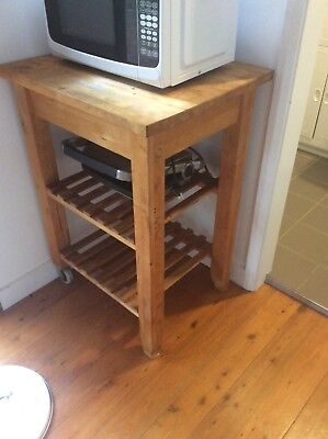 Small butchers block in good condition with 2 wheels