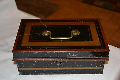 Toleware Tin Money Box 1800's