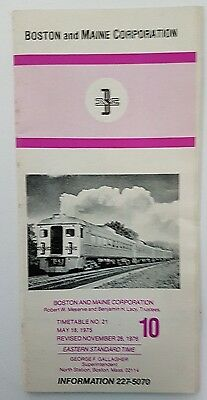 Boston & Maine Timetable #21 May 18, 1975