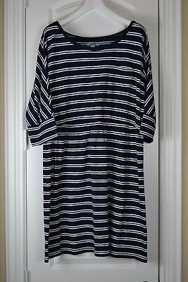 OLD NAVY Striped T-Shirt Dress - Navy Blue White - Maternity Size XXL - NWOT