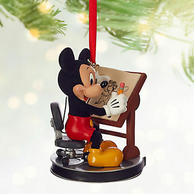 Disney Store 2016 Sketchbook Ornament Mickey Mouse Animator Art of Animation NEW
